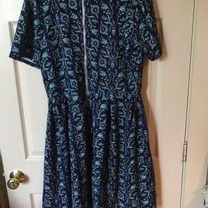 LuLaRoe Dresses - LulaRoe Amelia dress with pockets + back zipper 3x